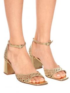 Martinez Woven Metallic Leather Procida Sandals
