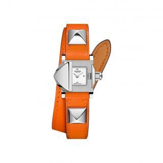 Hermes Orange Medor watch, 16 x 16 mm PHW