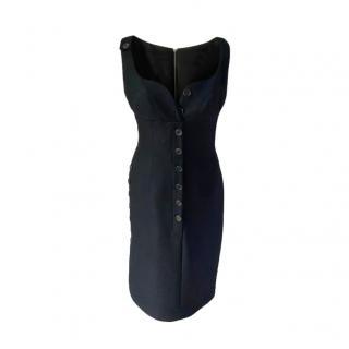 Derek Lam Virgin Wool Blend Button Down Dress