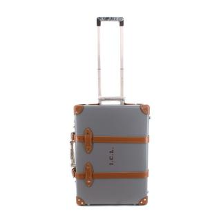 Globe-Trotter Grey & Brown 2 Wheel Cabin Suitcase