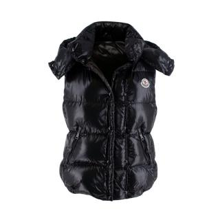 Moncler Galene Shiny Black Quilted Shell Gilet