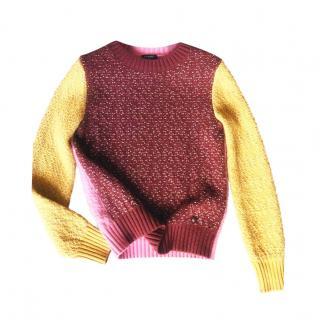 Chanel Colourblock Cashmere Knit Jumper