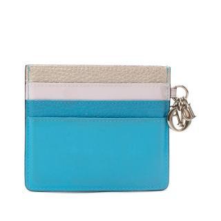 Dior Multicolour Lady Dior Leather Card Holder