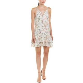 The Kooples Floral Lace Up Silk dress