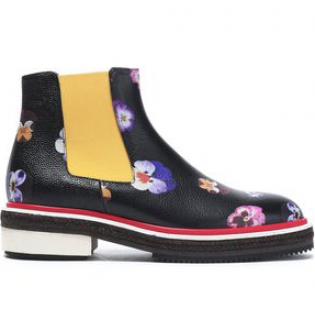 Christopher Kane Woman Floral-print Leather Ankle Boots