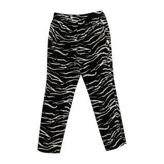 Carolina Herrera Zebra Print Tailored Pants