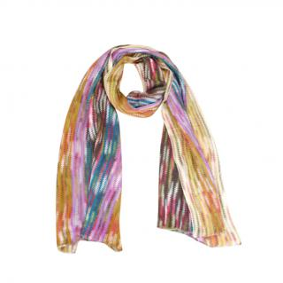 Missoni Multicoloured Knit Scarf 150cm x 35cm