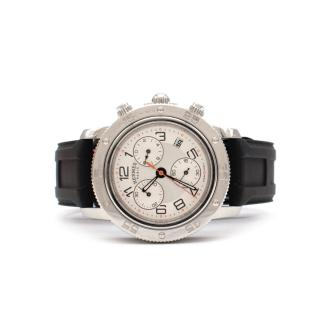 Hermes Clipper Diver Chronograph Watch with Rubber StrapWI TEAM