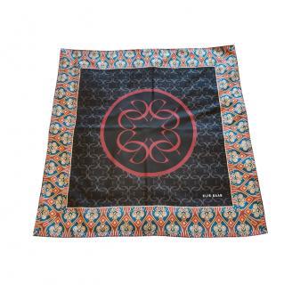 Elie Saab Paisley Mosaic Print Silk Scarf 90