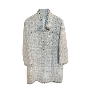 Chanel 2019 Fall Ecru Houndstooth Tweed Jacket