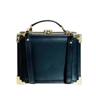 Aspinal Black Leather Trunk Shoulder bag