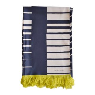 Bottega Veneta Striped Silk Runway Scarf