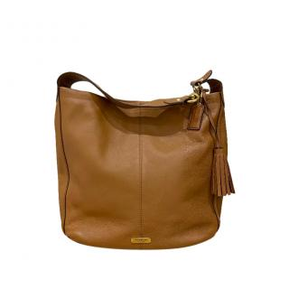 Coach Camel Leather Shoulder Bag