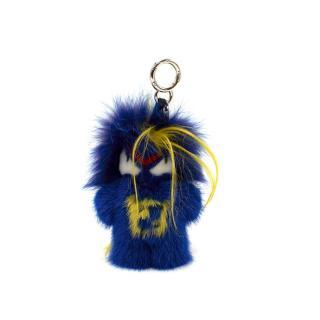 Fendi FendiRumi Bug-Kun Mink & Fox Fur Bag Charm