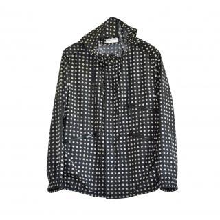 Saint Laurent star print hooded jacket
