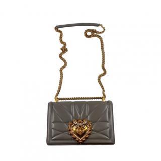 Dolce & Gabbana Grey Devotion Shoulder Bag