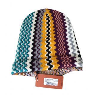 Missoni Multicoloured Wavy Knit Beanie