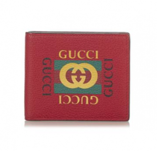 Gucci Logo Leather Small Wallet