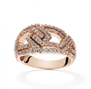 William & Son 18ct Rose Gold Diamond Ring
