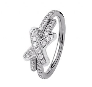 Chaumet Pave Diamond Liens White Gold Ring