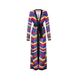 Balmain Chevron Knit Longline Cardigan