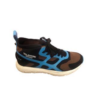 Valentino Knit & Leather Colourblock Sneakers