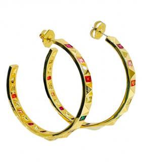 MeMe 18kt Yellow Gold Rainbow Hoops
