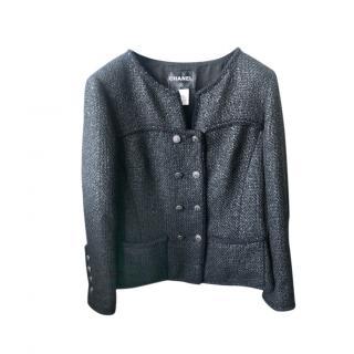 Chanel Black Tweed Little Black Jacket