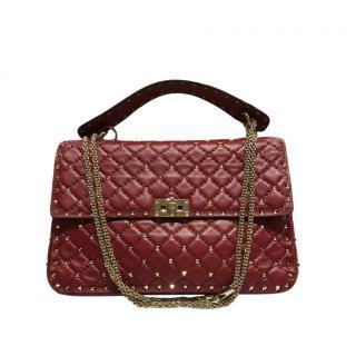 Valentino Rockstud Spike Red Shoulder Bag