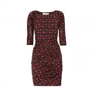 DVF New Season Cherry Leaf Print Mini Dress