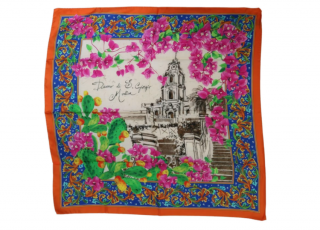 Dolce & Gabbana Multicoloured Floral Print Silk Scarf
