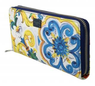 Dolce & Gabbana Sicily Print Zio-Around Wallet