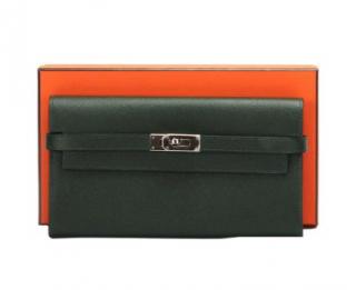Hermes Bottle Green Epsom Leather Kelly Classic Wallet