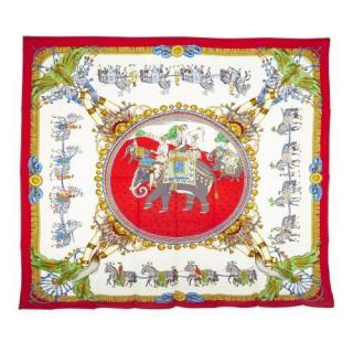 Hermes Caparacons de la France et de L'Inde Silk Scarf