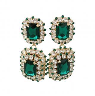 Dolce & Gabbana Green Crystal Drop Earrings