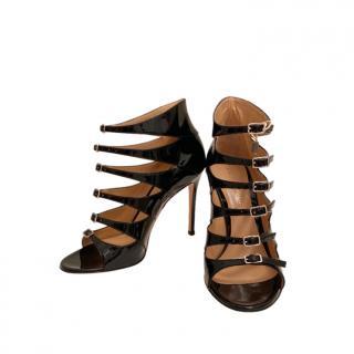 Gianvito Rossi Black Patent Rianne Sandals