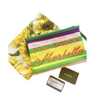 Dolce & Gabbana Marbella Embroidered Zip Pouch