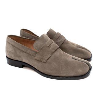 Maison Margiela Grey Suede Tabi Loafers