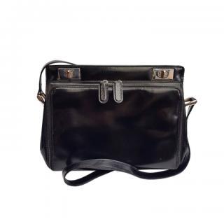 Gucci Black Patent Crossbody Bag