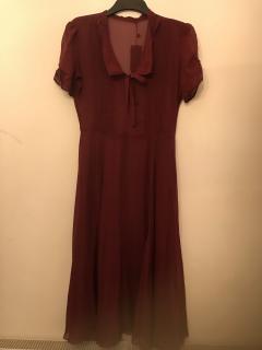 Polo Ralph Lauren Burgundy Silk Dress