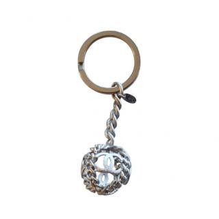 Chanel Vintage 90s CC Cage Key Chain