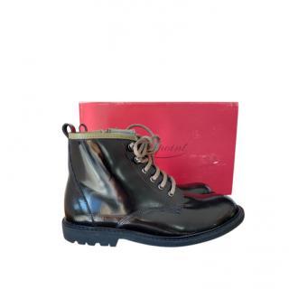 Bonpoint Lace-Up Patent Boots
