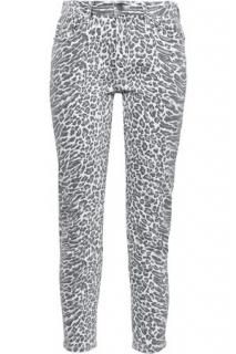 Current/Elliot Leopard Print Skinny Jeans