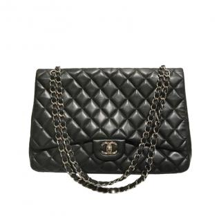 Chanel Black Quilted Leather Maxi Flap Bag