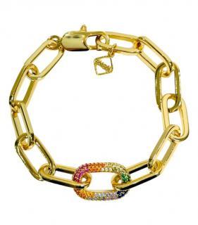 MeMe London 18kt Yellow Gold Plated Rainbow Bracelet