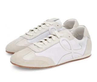 LOEWE white Leather Ballet Runner Sneakers