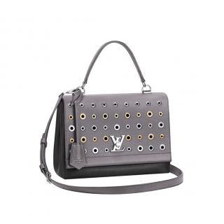 EyeletLouis Vuitton Grey LockMe Eyelet Shoulder Bag