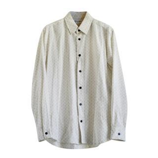 Saint Laurent Oversized Printed Linen Blend Shirt