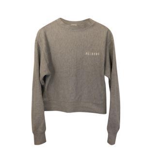 Re/Done Grey Logo Sweatshirt