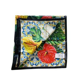 Dolce & Gabbana Tropical Majolica Print Scarf